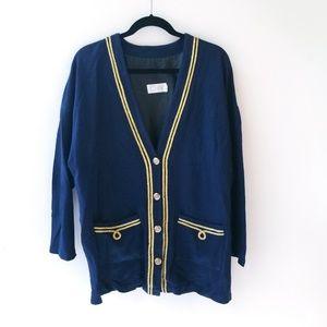 Vintage char button up sailor cardigan jacket